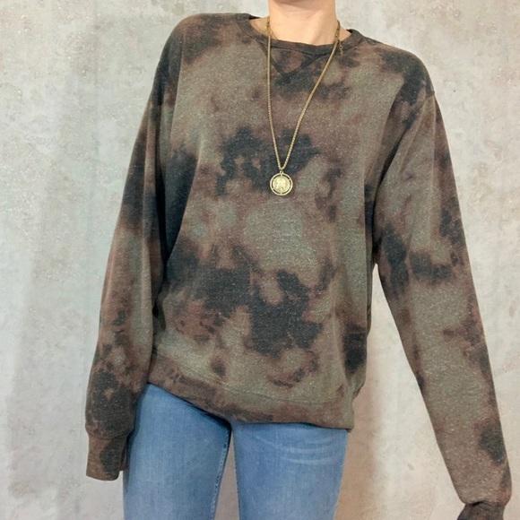 15d11836a1826 Oversized bleach tie dye sweatshirt | soft grunge